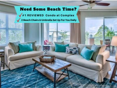 Photo for LOOK!!  Private Beach, 2 KINGS, 2 QUEENS, #1 Reviewed, Free Beach Service!