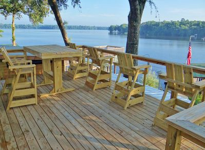 Breathtaking views high above the lake and your private 80'x45' dock area!