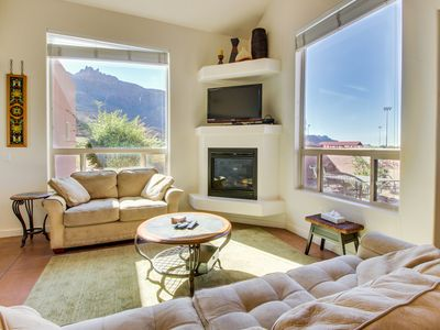 Photo for Lovely townhome w/shared seasonal hot tub and pool near downtown Moab!
