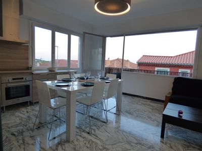 Photo for Superb apartment completely renovated on the heights of Villefranche