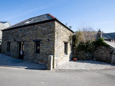 Photo for Lovely village Barn Conversion nr Trebarwith Strand Beach. Sleeps 2