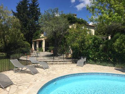 Photo for Provencal villa with pool minutes from centre of Fayence