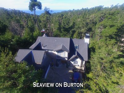 Photo for Cambria Ocean View Tudor on Forested Preserve