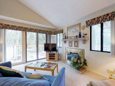 Photo for Cozy villa w/ shared pool, deck, full kitchen & more - beach access nearby!
