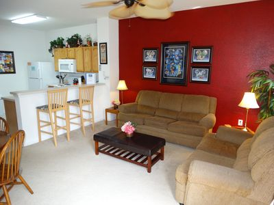 Photo for Windsor Hills SOUTH FACING POOL Private End Unit Disney Decorated Townhouse!