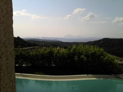 Photo for Costa Smeralda villa with sea view pool very close to the beaches