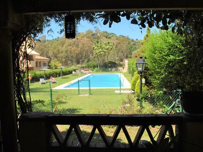 Photo for Lovely Apartment in Santa Maria Village - Elviria, Marbella East, Garden, Pool