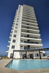 Photo for BRAND NEW BEACHFRONT APARTMENT IN GREAT AREA - HUGE BALCONY - WELL FURNISHED