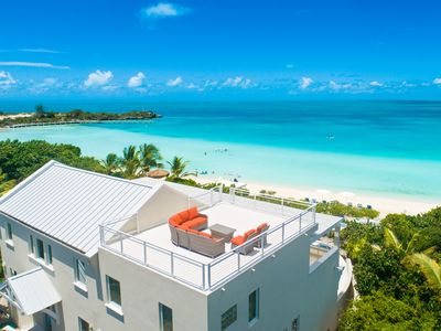 Photo for Villa Blue Heaven -  On Best Beach!  -  Turquoise Views/Pool/Sunsets