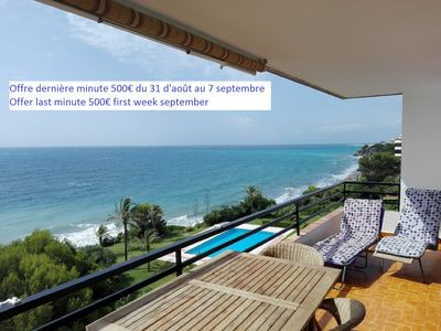 Photo for PRETTY APARTMENT WITH DIRECT EXIT TO THE BEACH