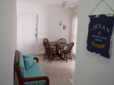 Photo for 2 blocks from Enseada beach and cozy