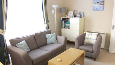 Photo for Comfortable Sidmouth apartment with parking, a minute's walk to seafront