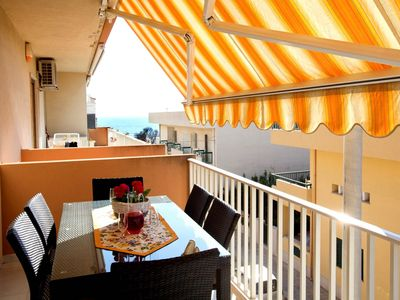 Photo for CaseSicule: Caracias, Sea View Apartment with Veranda on the Pietre Nere Promenade