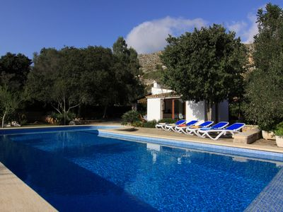 Photo for Family friendly villa with optional pool gate , close to Pollensa and the beach.