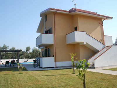 Photo for Villa sleeps 12  with private Pool and Garden. WiFi and Air Con, close to beach