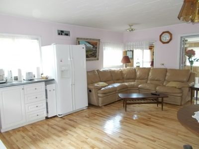 hardwood floors - no Carpets- Open Concept- Lots of light.