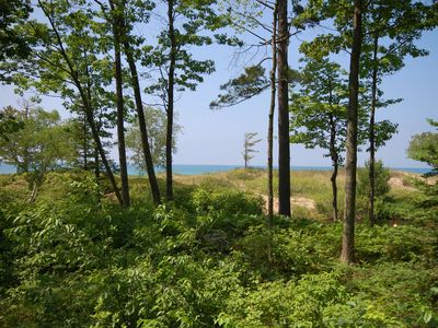 Photo for River and Beachfront 2B/2BA Condo with Beautiful Lake Michigan Views!