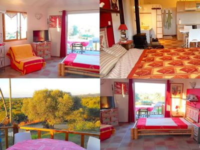 Photo for Large two room independent with garden near Bonifacio
