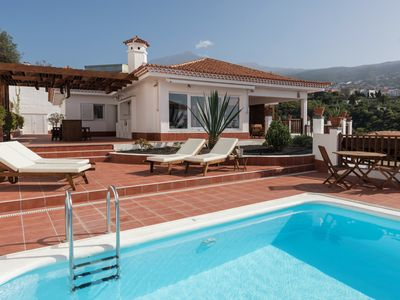 Photo for Private heated Pool, ocean & volcano views, wifi, concierge in Villa [apt G]