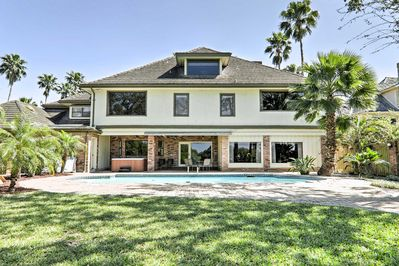 Plan your next Texas escape to this 7-bedroom, 5.5-bath vacation rental home.
