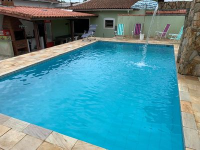 Photo for Itanhaém house 200 meters from the beach with pool