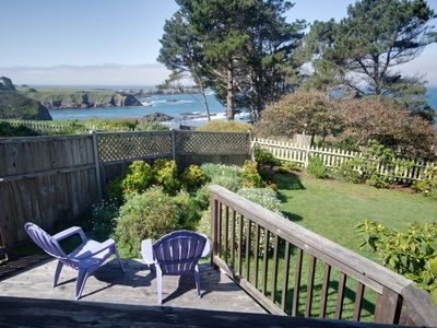 Photo for Oceanview home w/fireplace, front and back decks, landscaped grounds & jet tub