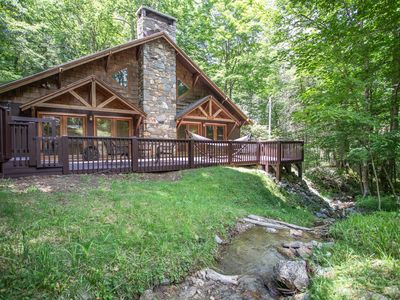 Photo for 3BR Cottage on Beech Mtn, Peaceful Creek, Hot Tub, Grill, King Suite, Near Skiing!