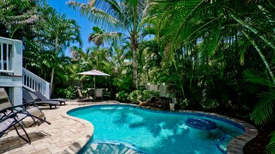 Photo for Palm Villa - a 3 bedroom, 3 bath home w/heated pool - pet friendly!