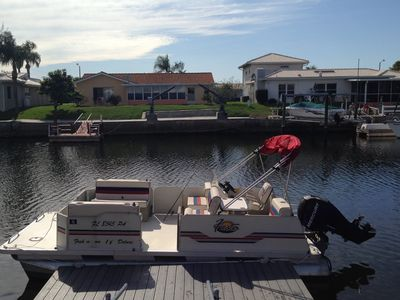 Pontoon Boat - private home dock.