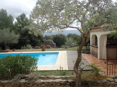 Photo for La Luberanne, heated pool and view of Luberon
