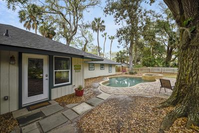 Convenient Entry from Back Yard to Kitchen