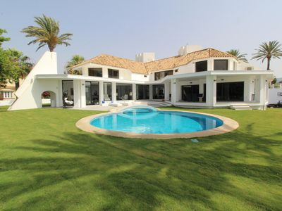 Photo for Bautiful beachside villa with private pool is located in Las Chapas Playa