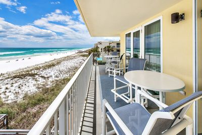 Gorgeous beach view from the balcony