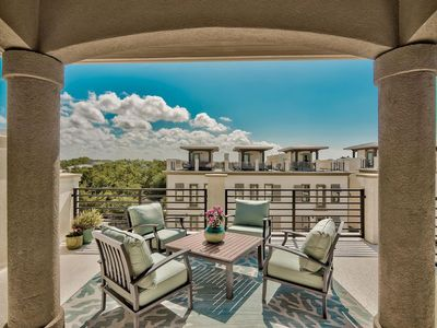 Photo for Walk to Blue Mountain Beach! Luxury Townhome with Gulf Views and Pool.