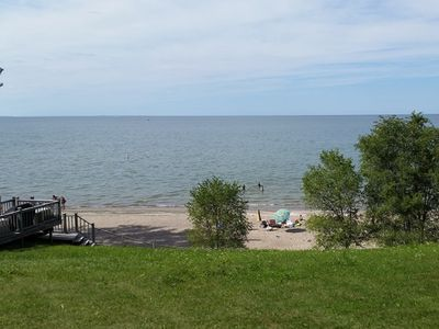 Photo for FULLY-PRIVATE Beach and Home Right on Lake Erie!!!!