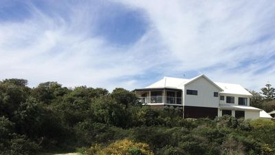 Spectacular ocean views from this stunning house perched on the dune.