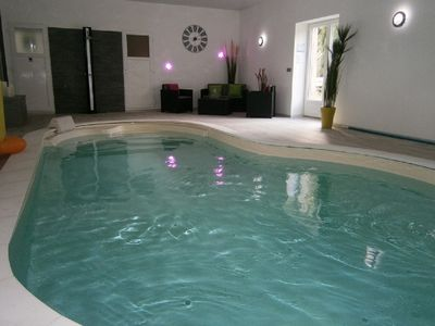 Photo for House 8 people with indoor heated pool and fishing pond.