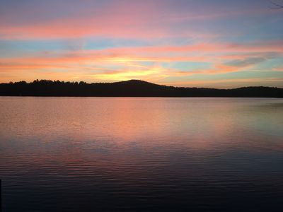 Photo for Beautiful Western Views, Magnificent Sunsets on incredible Great Pond.
