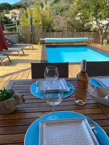 Photo for Heated pool house 200 mins from the beaches.