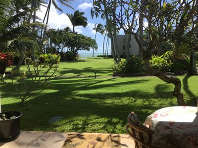 The grounds, Ocean  directly  in front  of Lanai. pool to the left.