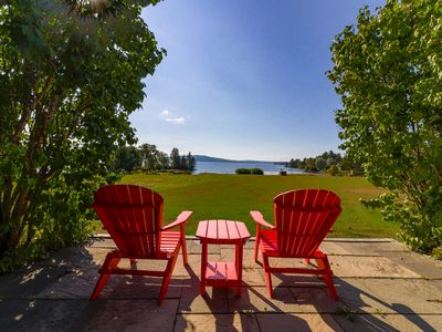 Photo for 2 lakefront, dog-friendly cabins on 4 acres w/ porches, dock, & lake views