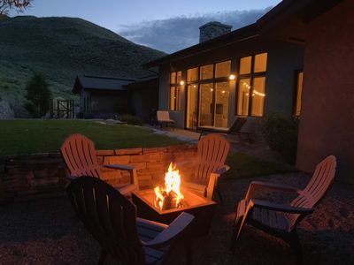 The Backyard fire pit is perfect for cocktails or star gazing and s'mores