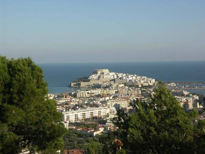 Photo for Beautiful apartment with large terrace and panoramic views of the old town and the sea