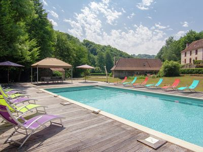 Photo for Two authentic holiday homes on a magnificant spot with private heated pool.