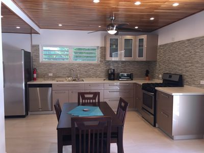 Fully Equipped Kitchen W/Full Size Refrigerator, Dishwasher, Stove Ideal for Long Stays.