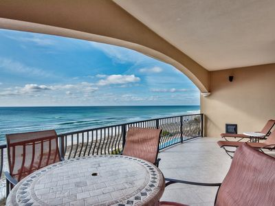 Photo for VC303 Gulf front,4 bedrooms, 3 baths, pool, gym, beach chair service inc!!!!