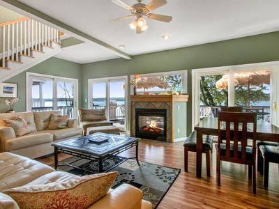Photo for Lake Geneva Home with Private Beach, Pier, Lakefront Fire Pit, Golf | Fun Times!
