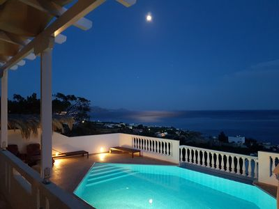 Photo for Crete: Beautiful house, superb on direct sea view, private pool, close to beach.
