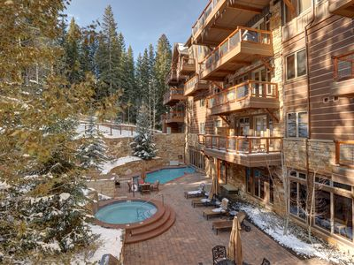 Photo for Ski-In/Ski-Out Condo with Access to Pool, Hot Tub, BBQ area + Fire Pit