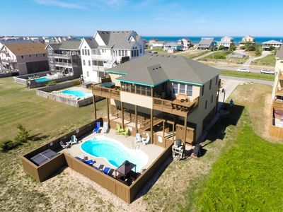 Photo for Sea Song II | 470 ft from the Beach | Private Pool, Hot Tub | Nags Head